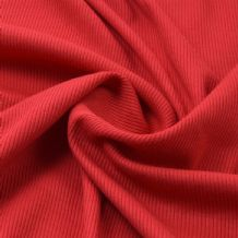 Red - Plain 100% Cotton 2x1 Rib